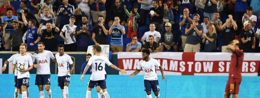 Tottenham celebrating against liverpool - Spurs vs Liverpool hospitality tickets at the new stadium