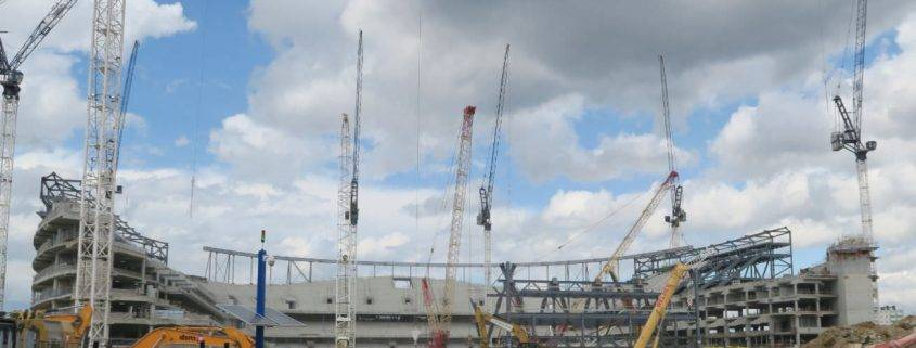 Construction for the New Spurs Stadium - Tottenham Hotspur new ground 2018/19