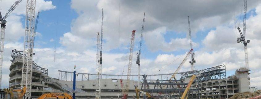 Construction for the New Spurs Stadium - Tottenham Hotspur new ground 2018/19