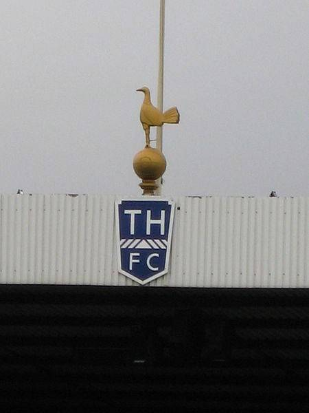 The copper cockerel historically overlooking the action at White Hart Lane