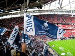 Spurs fans at wembley - luxury seats for fans at the new Spurs stadium