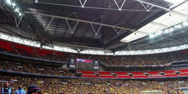 APOEL fans at Wembley Stadium - Corporate hospitality tickets and travel for Spurs Champions League matches