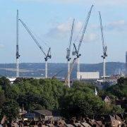 cranes developing the new Spurs stadium - Tottenham Hotspur