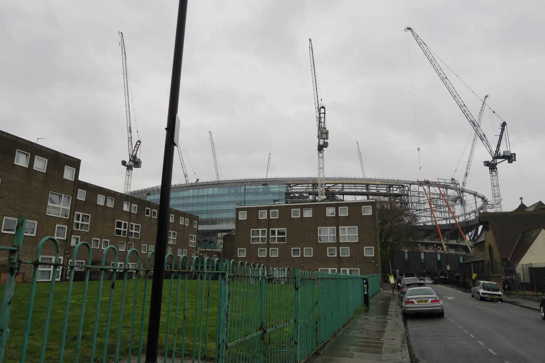 New Spurs Stadium rear