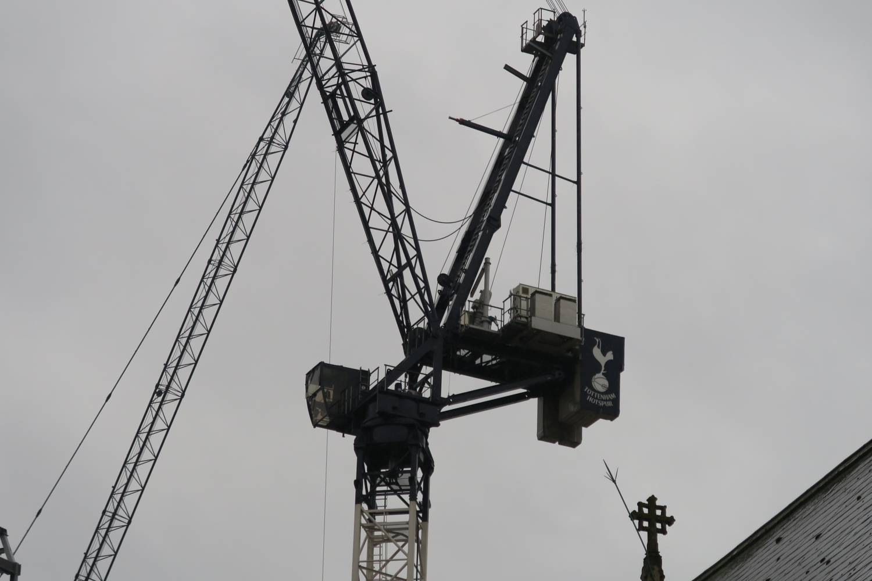 Crane at New Spurs Stadium
