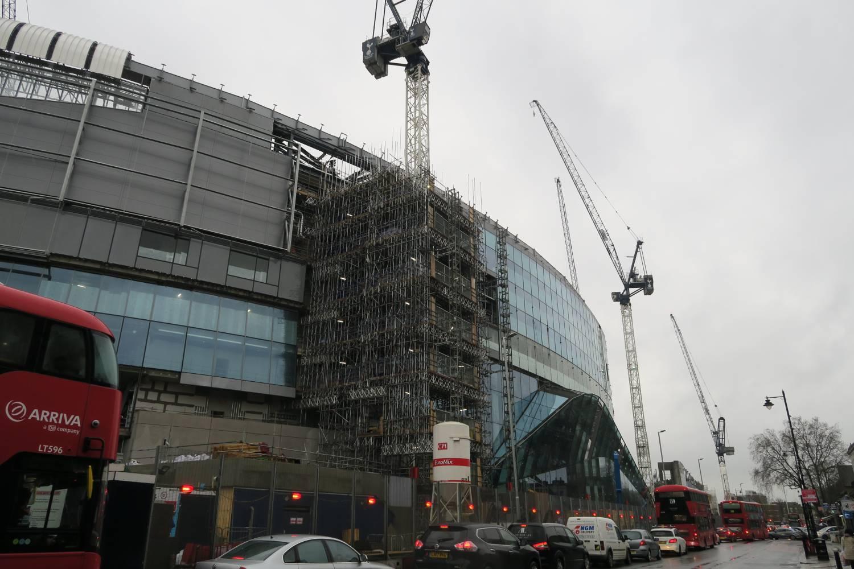 Construction underway at new spurs stadium