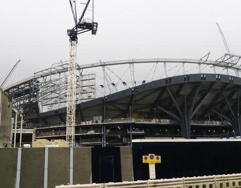 Spurs New Stadium Update: South Stand Almost Complete