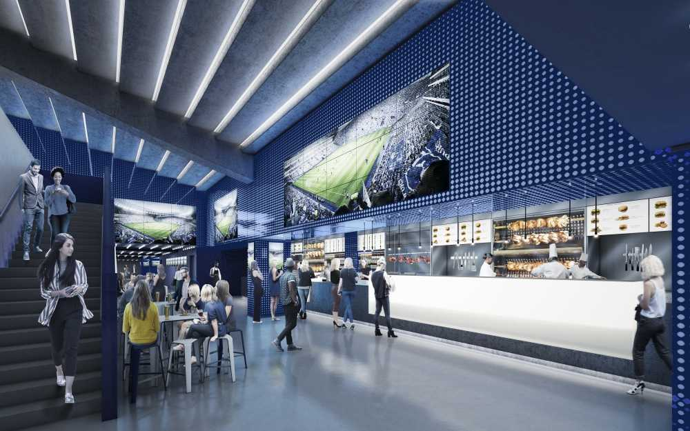 East Stand Lower Club Premium Area Spurs New Stadium