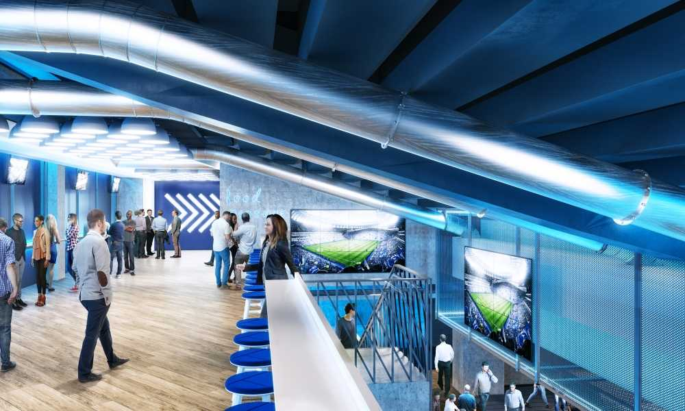 East Stand Premium tunnel area Spurs New Stadium