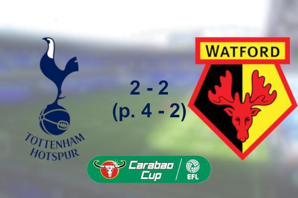 Spurs 2 - 2 Watford (p. 4 - 2) (Carabao Cup)