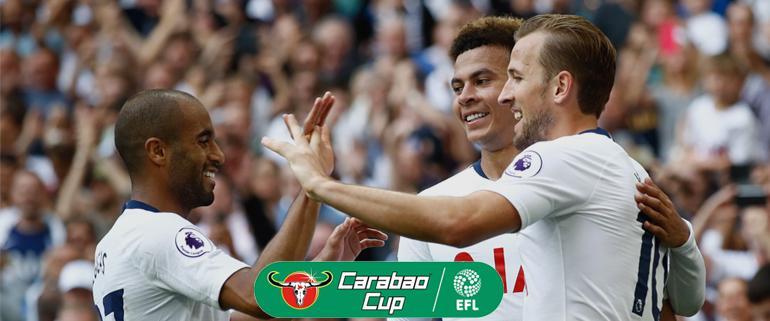 Arsenal v Spurs Carabao Cup - Kane Alli Lucas Moura