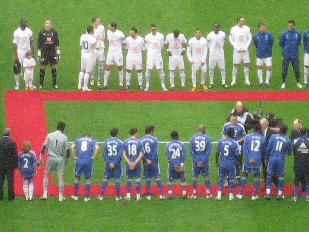 Spurs v Chelsea Teams Carling Cup Final