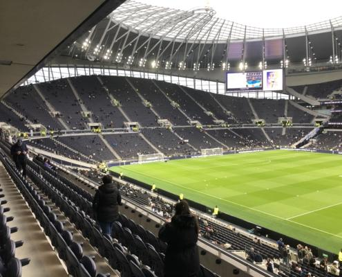 the south stand at Spurs' stadium