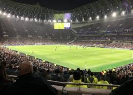 The view of the pitch from BLK236 in the Spurs Travel Club