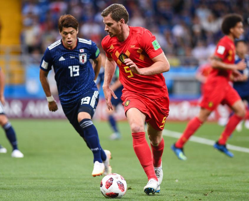 Jan Vertonghen playing for Belgium