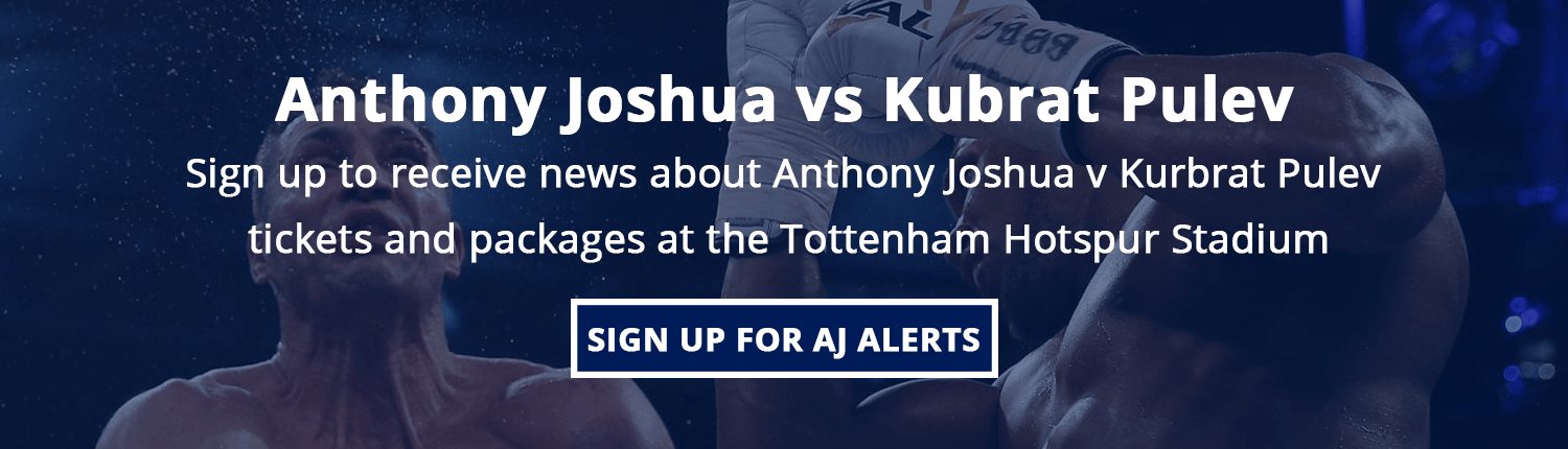 Sign up for Anthony Joshua ticket alerts