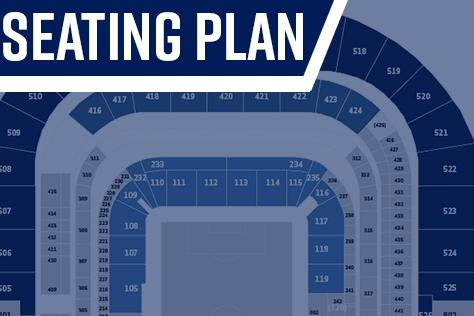 Spurs Stadium seating plan